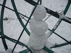 Caged snowman