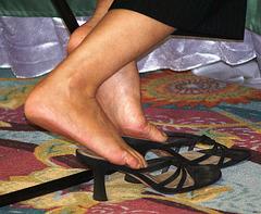 BP black heels