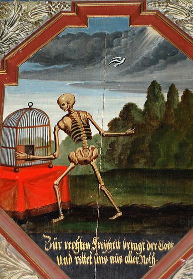 Al la liber' kondukas Mort' el kia ajn mizera sort'!