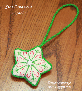 Star Ornament 11/4/12