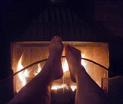 Fait frisquet ce matin / Cold feet looking for heat -14 septembre 2012 /  Photo originale