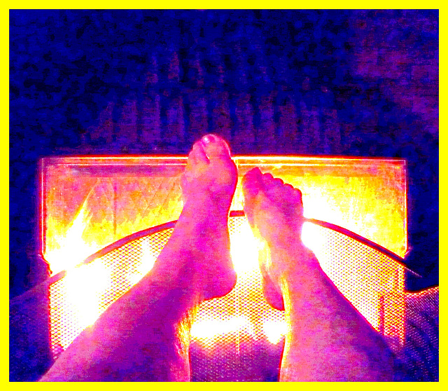 Fait frisquet ce matin / Cold feet looking for heat  -  14 septembre 2012 / Photofiltration flamboyante