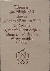 Spruch an der Mühle in Schmilka - Sachsen