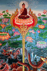 Painting in Wat Neiramit Vipassana