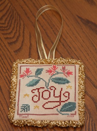 Joy Ornament 11/30/09