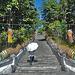 Stairways up to Wat Chom Thong Buddha