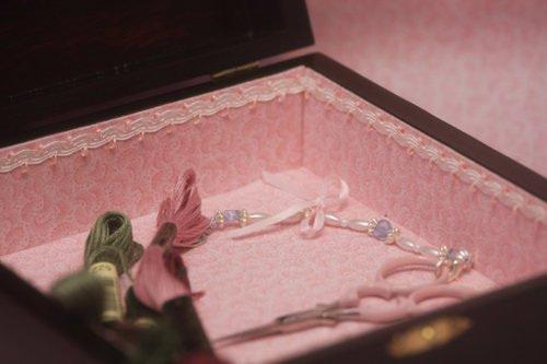 Pink Carnations Box (inside) 11/8/08