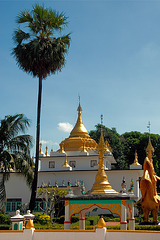 Great stupas in Wat Thai Watthanaram