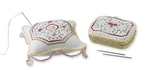 Crystal Pink Pin Cushion and Needle Keep