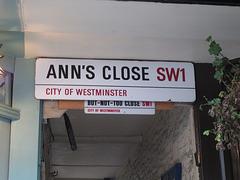 Ann's Close SW1