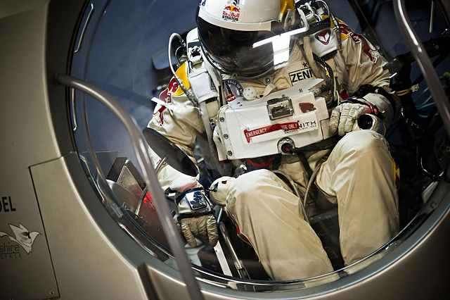 Baumgartner with GoPro Hero