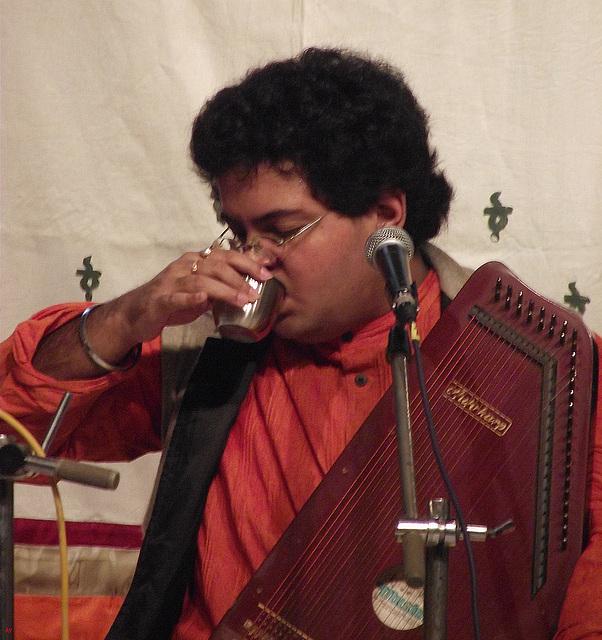 Singing is thirsty work