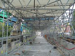 Le pont Charles chantier