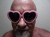 Pink Heart Sunglasses (1208)