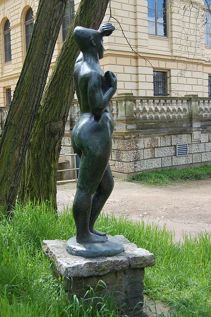 Eva kaj Lindenau-muzeo en Altenburg