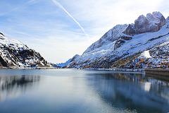 Gletscherstausee Lago Fedaia
