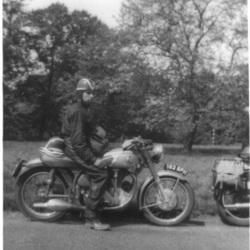 Me on my Norton International 500 in Kent 1956