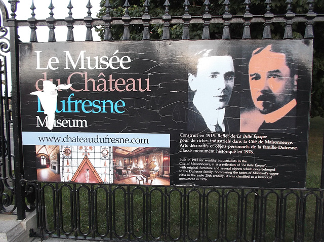Le Musée du Château Dufresne Museum - 28 août 2012.