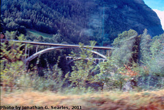 Viaducts (Bridges?) next to the Glacier Express Route, Near Zermatt, Visp District, Switzerland, 2011