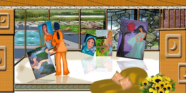 Michelle y sus pinturas