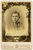 A Boy's Cabinet Card Portrait with a Tennis-Themed Border