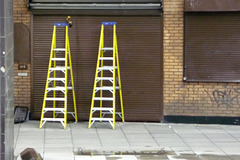 Two yellow ladders