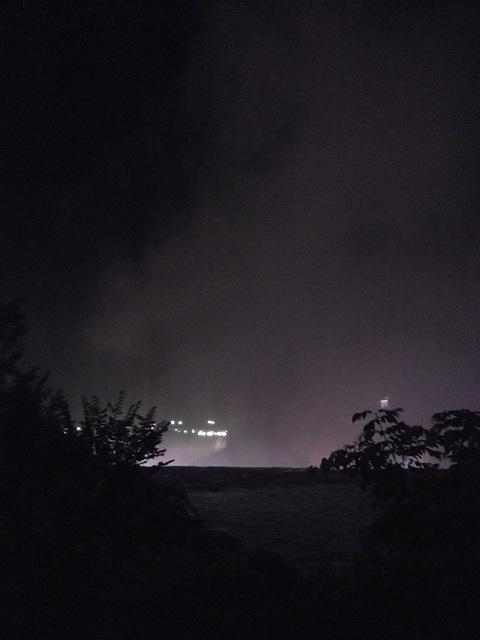 Bruine de chutes nocturnes / Night falls drizzle