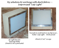 Lap Light - For working with dark fabric