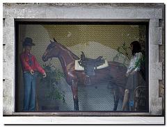 Es steht ein Pferd ...