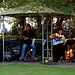 La duopo BLUE MOTION  koncertas en nia pensiono