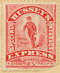 Hussey's Express Special Message Stamp