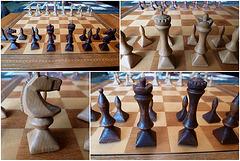 Schachfiguren - selbstgeschnitzt