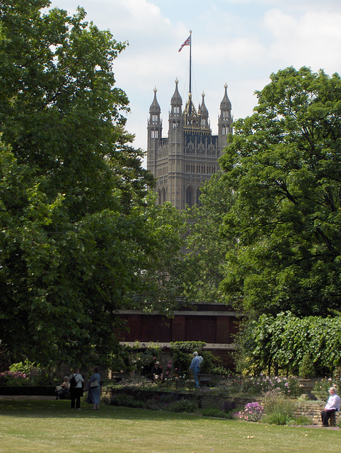 Victoria Tower of the Palace of Westminster from Lambeth Palace
