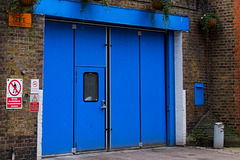 Blue door, Bloomsbury Ambulance Station, Herbrand St