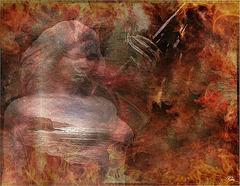 On garde........... un peu d'or ............Au fond de l'âme ...........Mais le temps dévore...............Éteint....... la flamme,