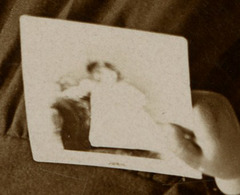 Girl Holding Photograph (Detail Showing Photograph)