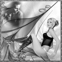 Blonde joliment  Bottée... / Blonde beautifully booted..... Création Valériane.
