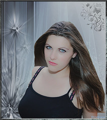Emilie, modèle chez J. Luc Achékian