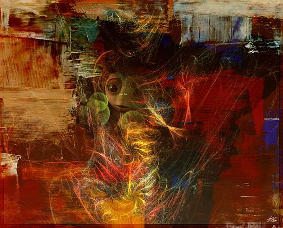 J'ai vu ton regard ............refléter cet Eden Quand tu touchais ..............le ciel avec ............le palet de ta marelle