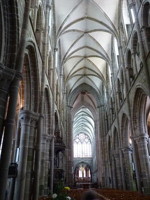 La nef de la cathédrale Saint Samson