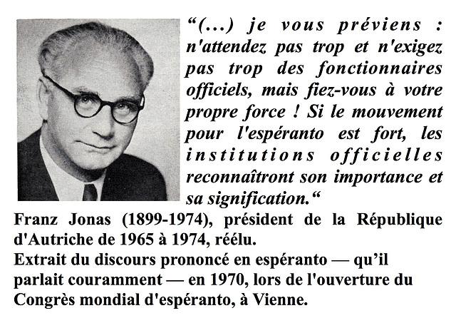 Franz Jonas, avertissement