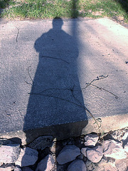 My shadow is bigger than me