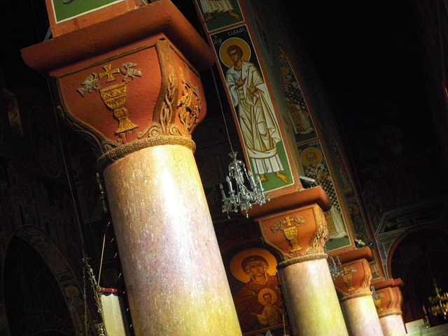 Eglise de l'Evangelismos : chapiteaux