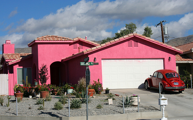 Bright Pink House at Cactus and 2nd (7458)