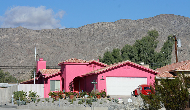 Bright Pink House at Cactus and 2nd (7926)
