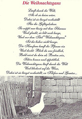 Die Weihnachtsgans (Gedicht für naive Gänse)