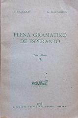 K. Kalocsay kaj G. Waringhien: Plena Gramatiko de Esperanto