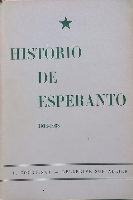 L. Courtinat: Historio de Esperanto, vol 2