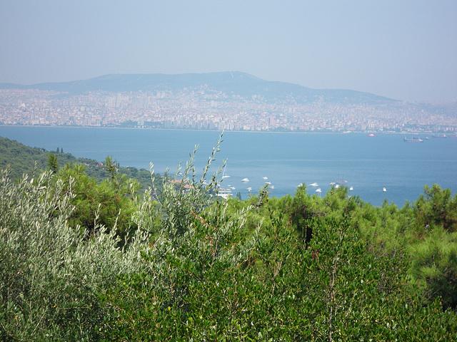 Vue sur la côte turque.