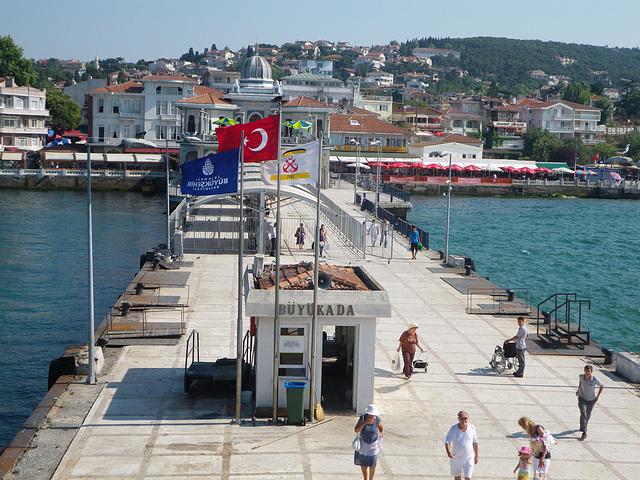 Le débarcadère de Büyük Ada.